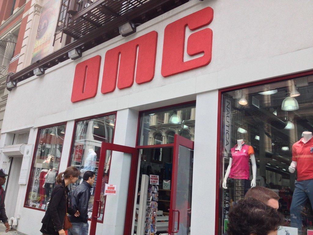 OMG shops, New York
