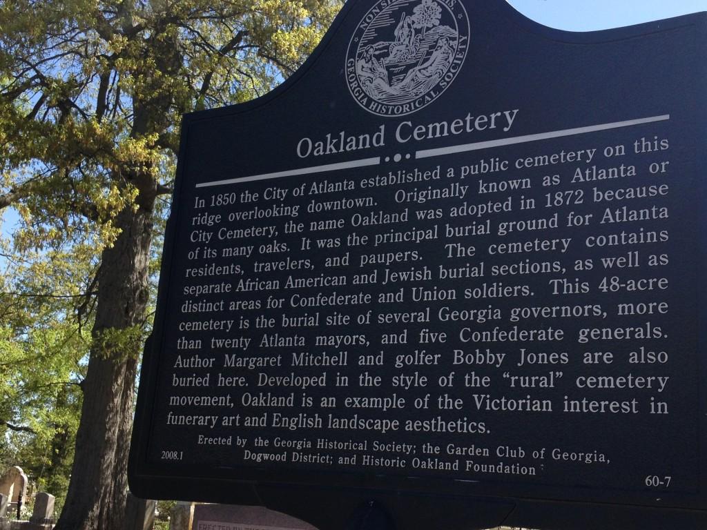 Oakland Cemetery, informazioni storiche