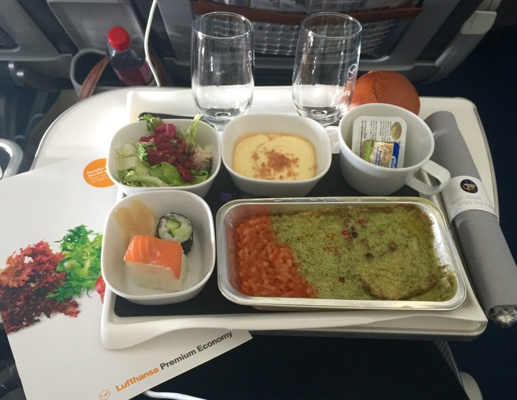 Pranzo in Premium Economy Lufthansa