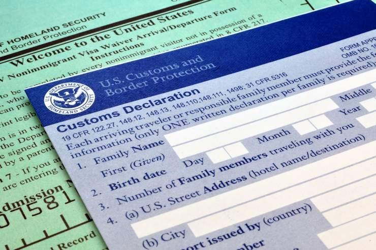 US Custom Declaration