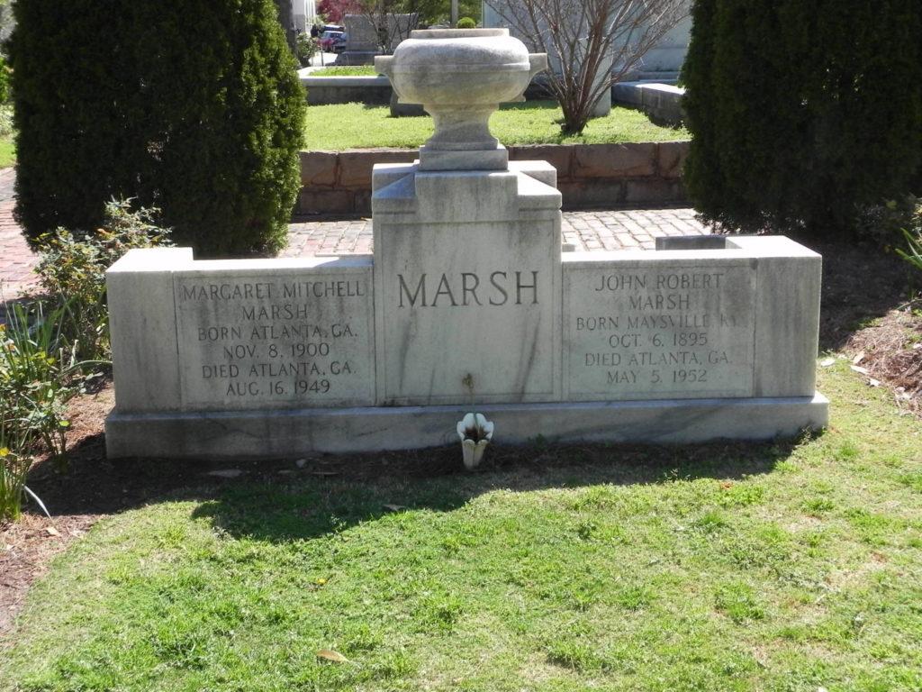 Cosa vedere ad Atlanta: la tomba di Margaret Mitchell all'Oakland Cemetery
