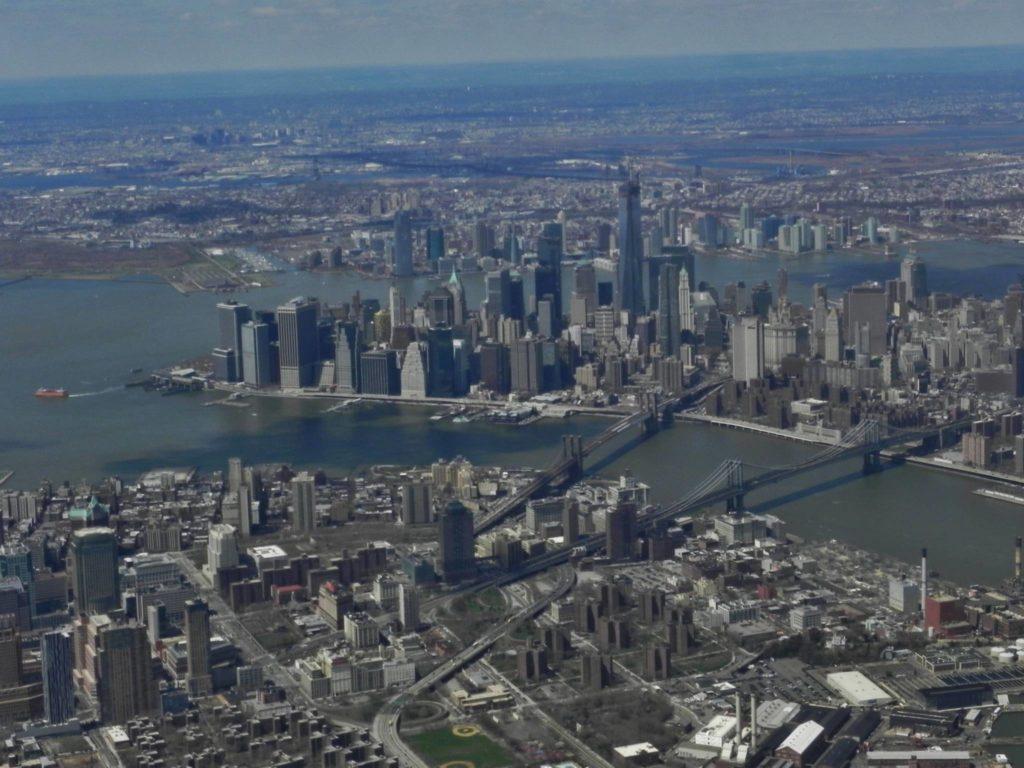 Lower Manhattan vista dal cielo (poco prima di atterrare al La Guardia Airport).