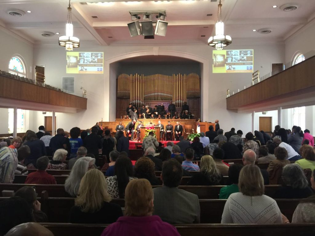 Holy function at 16th Street Baptist Church