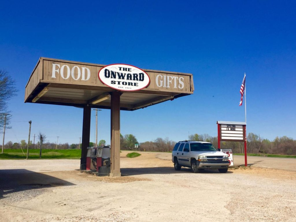 A journey to Mississippi: The Onward Store, service station