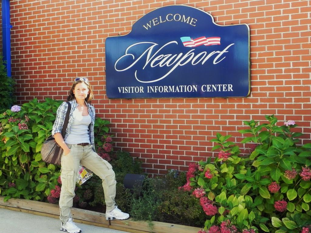 L'arrivo al Visitor Center di Newport