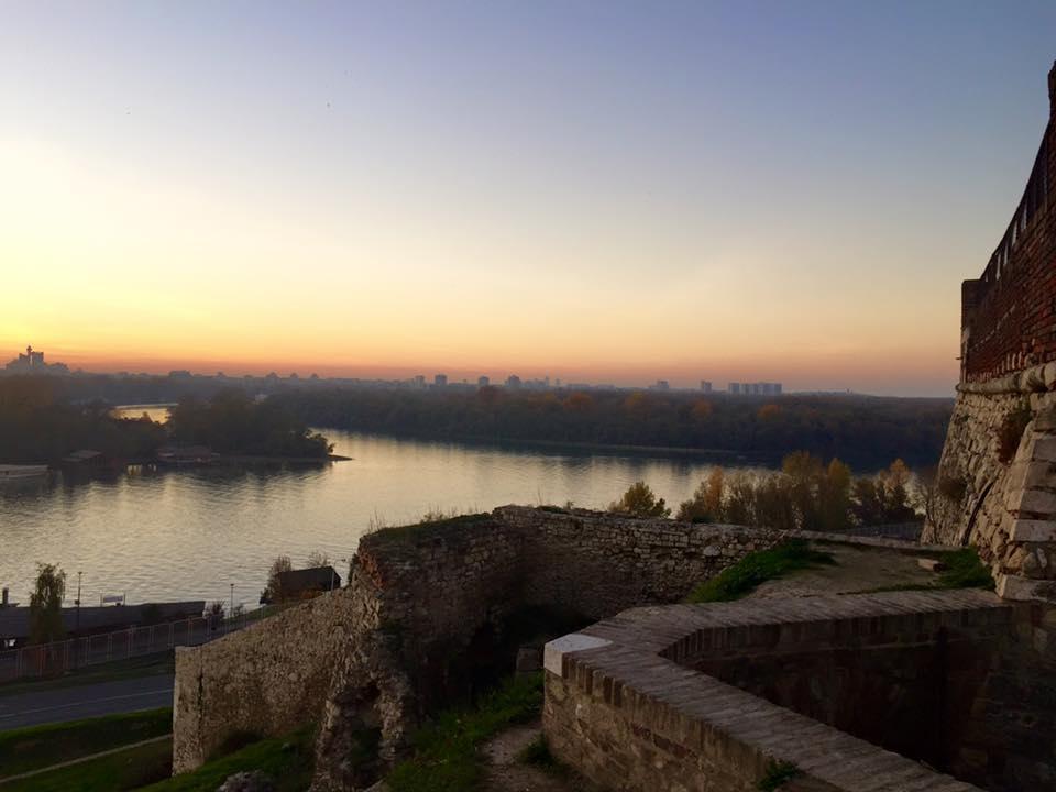 Vista dalla Cittadella, dove la Sava incontra il Danubio