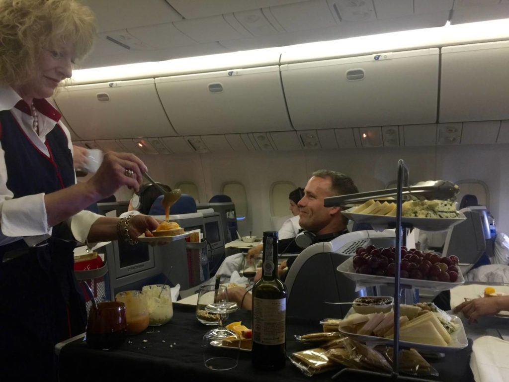 The faultless onboard service in Delta One