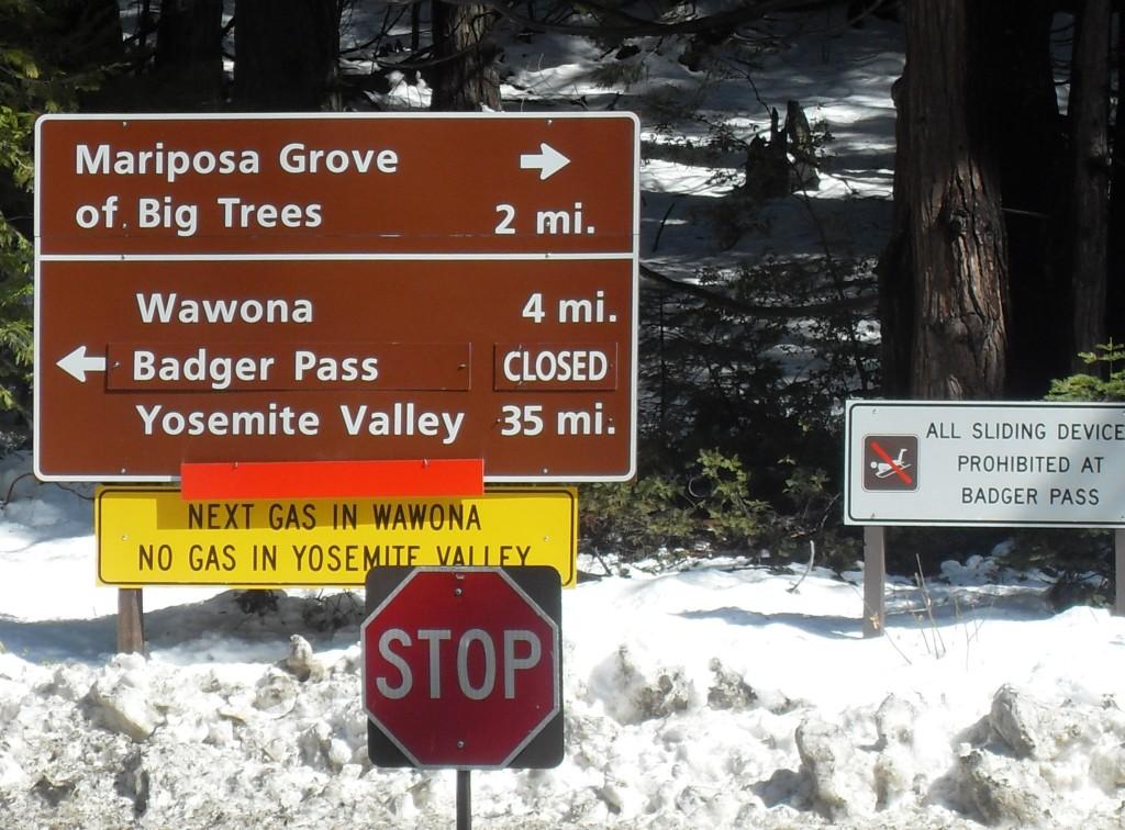 Yosemite National Park, in presenza di neve alcune strade vengono chiuse