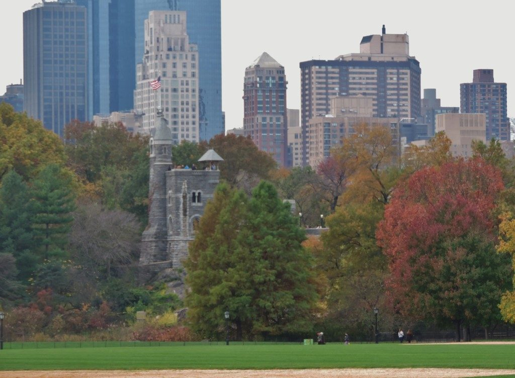 The Great Lawn and on background the Belvedere Castle