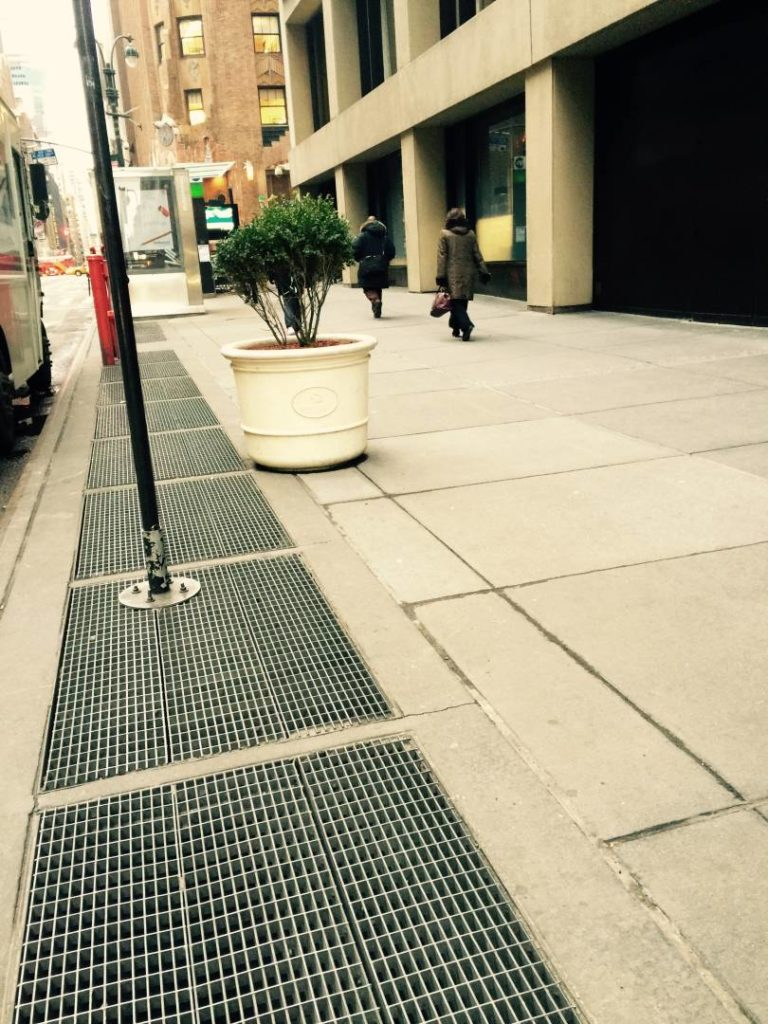 """Unusual New York: Marilyn's """"grate"""", today"""