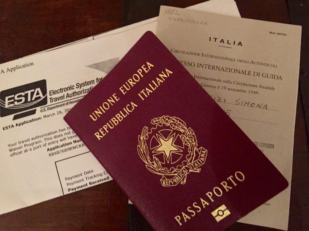 Documenti viaggio USA