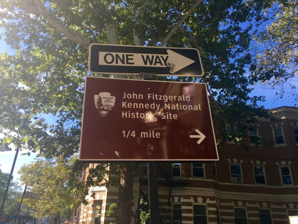 Indications to get to JFK National Historic Site