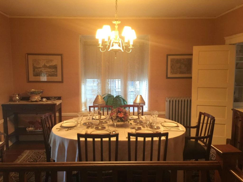 Kennedy's dining room inside his Brookline home