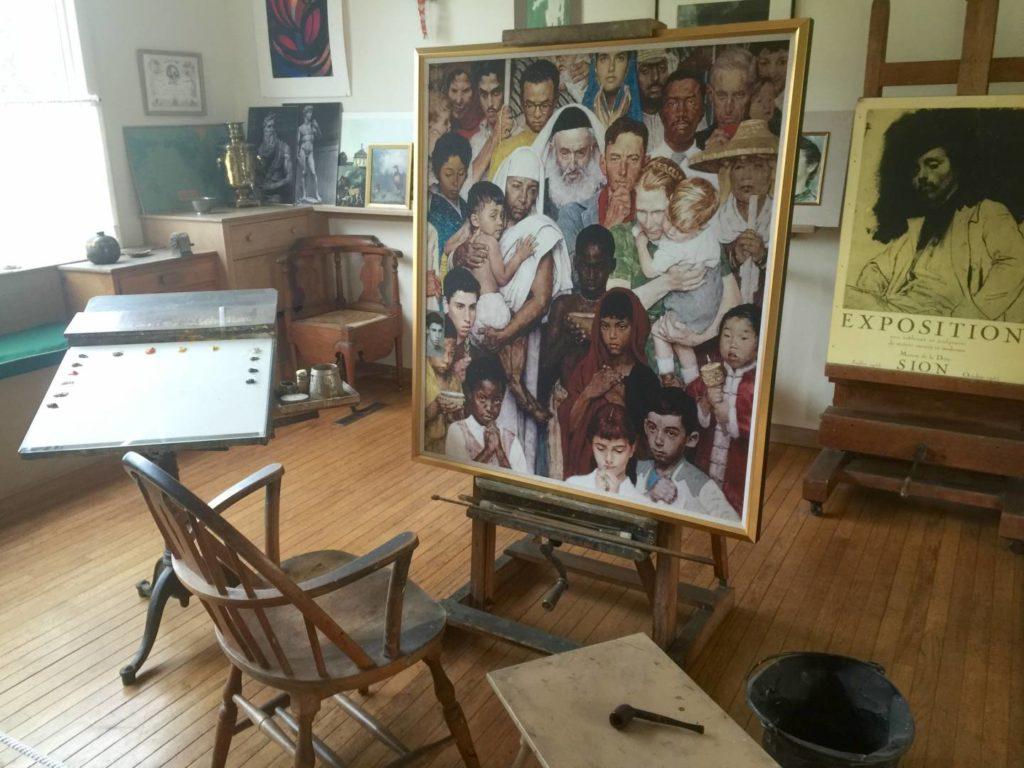 Norman Rockwell's workshop, inside