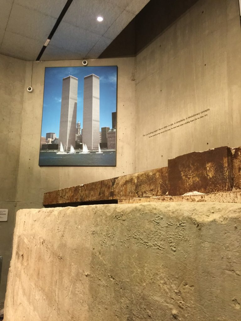 Into the foundations of the South Tower