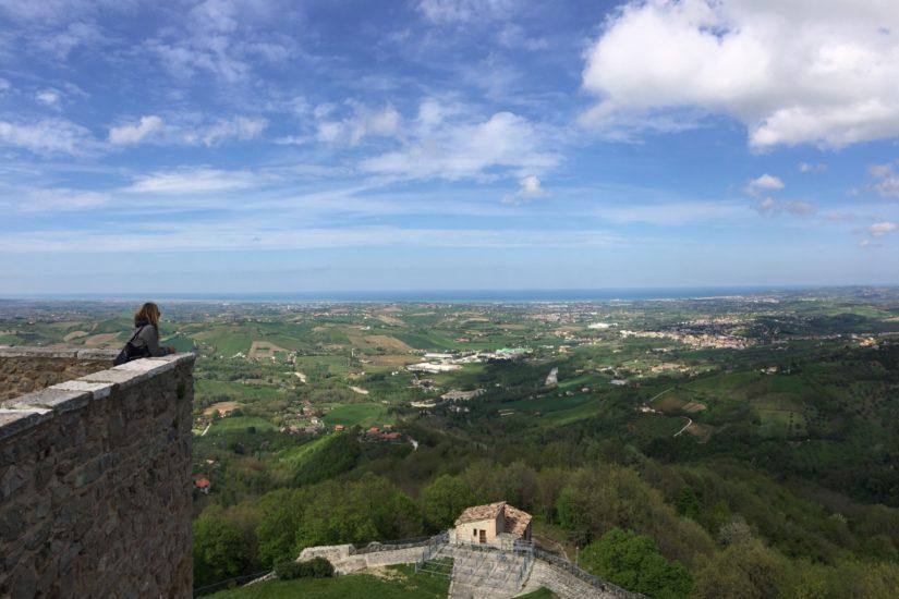 Veduta sulla Riviera Romagnola dalla Rocca di Montefiore Conca