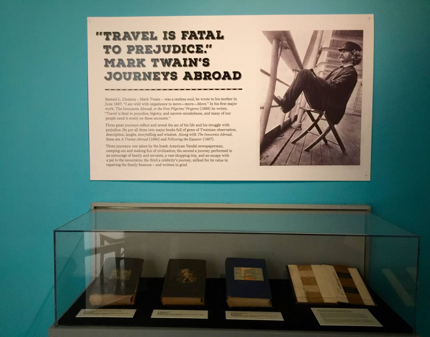 Mark Twain's House and Museum, travels and reflexions