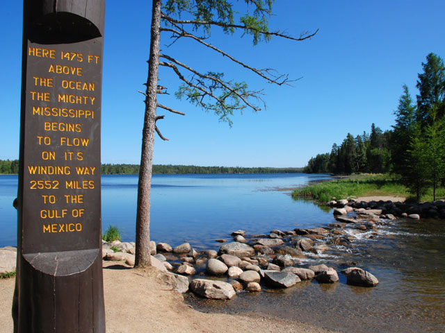 Itasca State Park, the place where the Mississippi River rises