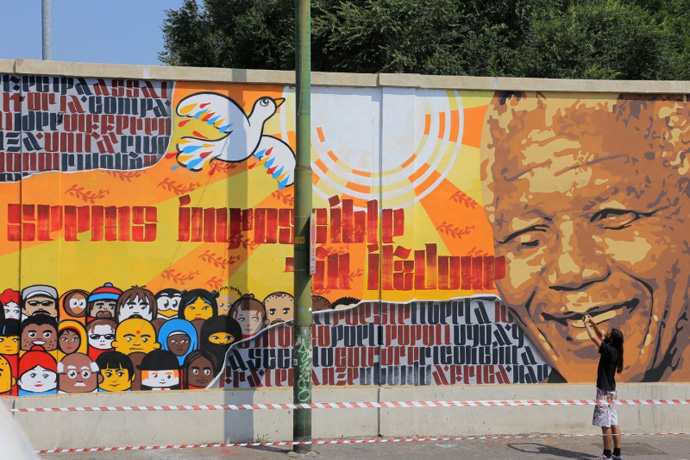 Milano insolita: Murales dedicato a Mandela - Fabbrica del Vapore - ph. credits clubmilano.net