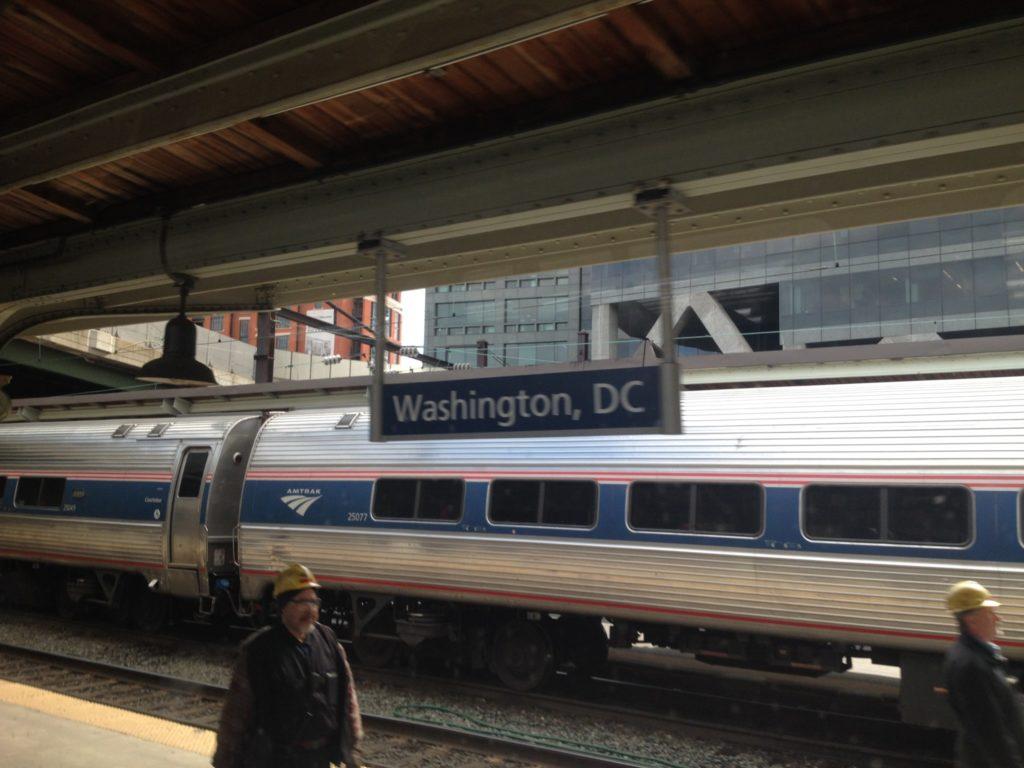 Viaggiando in treno sulla east coast