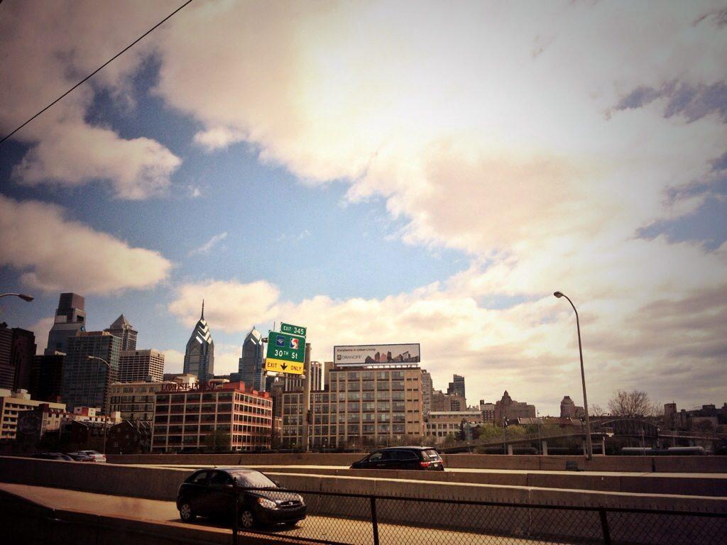 Philadelphia vista da un Amtrak