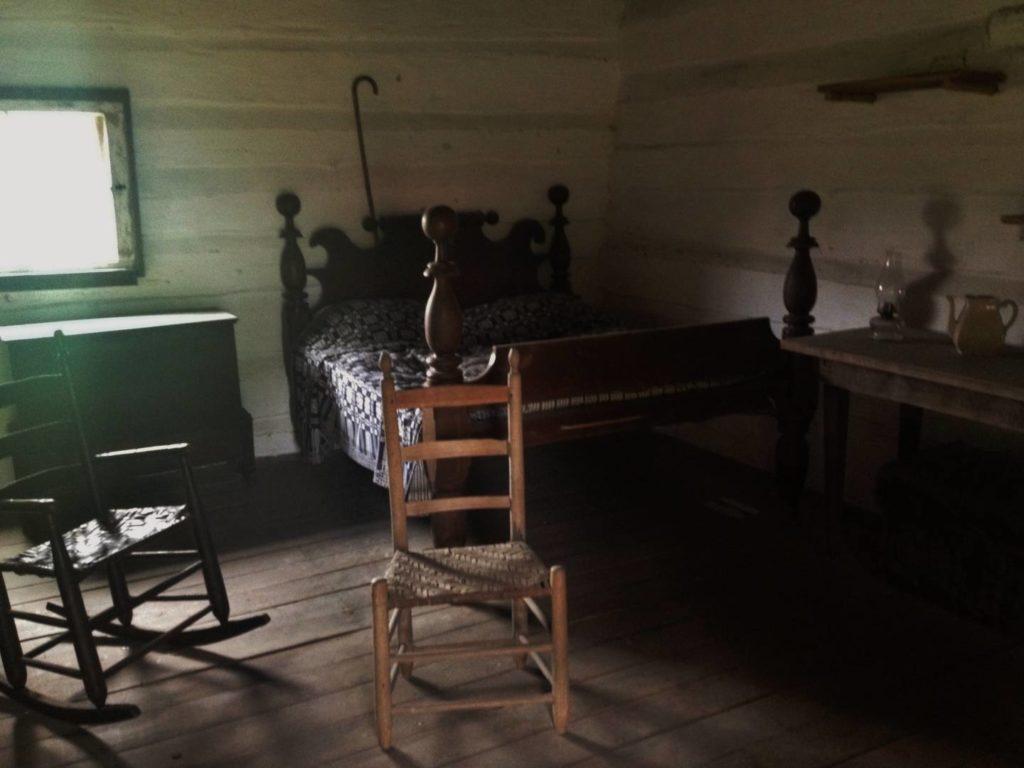 La capanna della famiglia dello schiavo Alfred