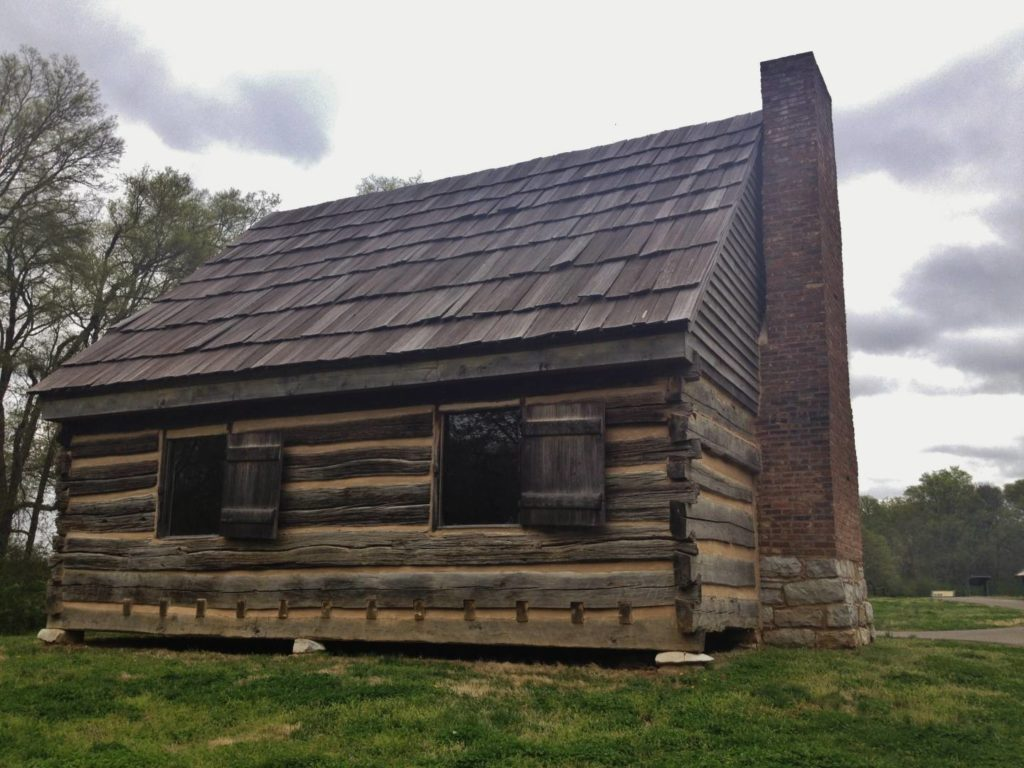 La vecchia casa di tronchi del presidente Jackson