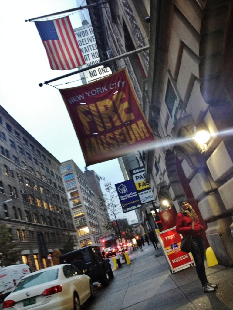L'ingresso del New York City Fire Museum