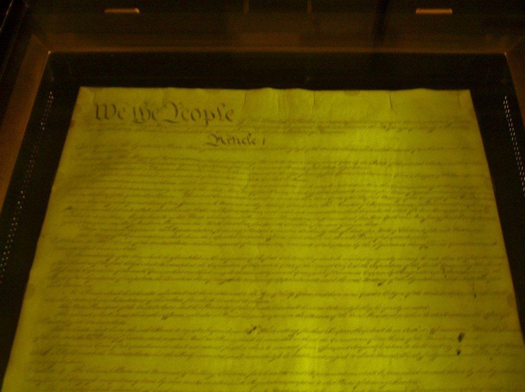 La prima, originale Costituzione degli Stati Uniti d'America