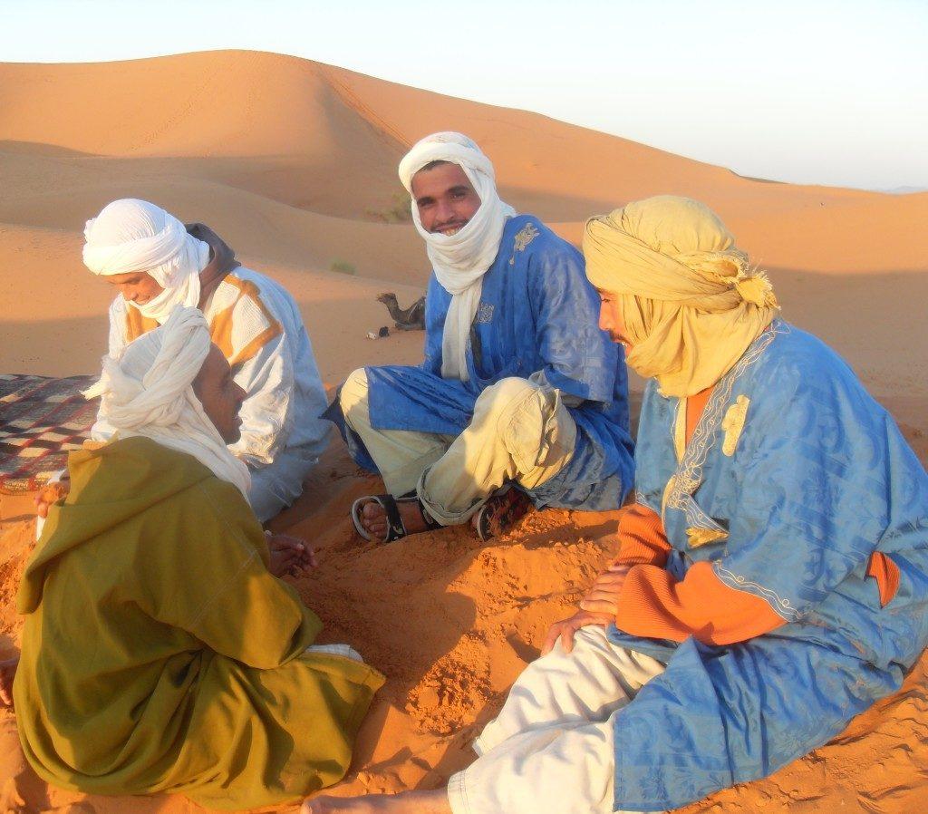 Sahara al sorgere del sole