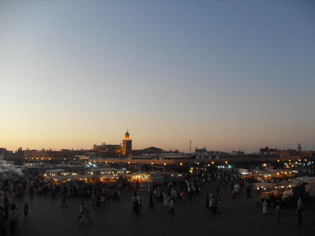 Jamaa El Fnaa al tramonto