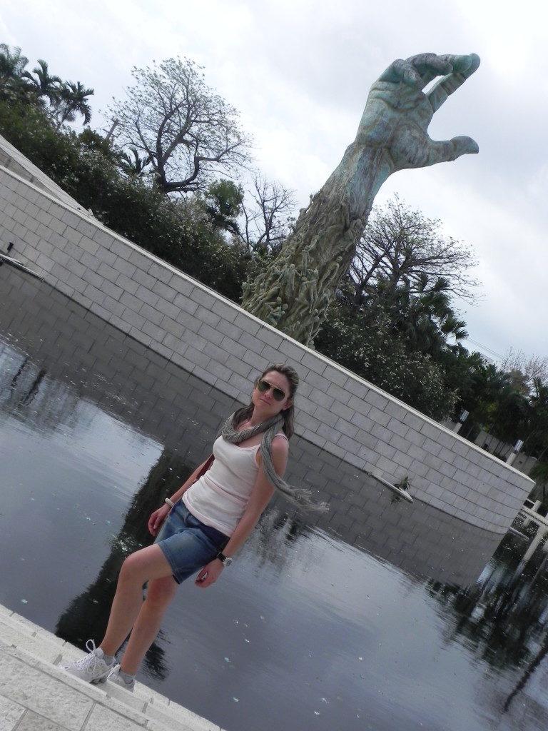 Il monumento alle vittime dell'Olocausto..