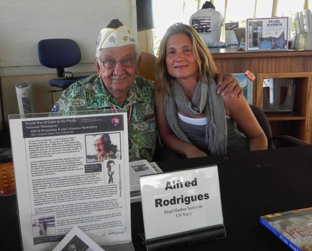 Pearl Harbor, Hawaii In compagnia di Alfred Rodriguez, superstite dell'Arizona