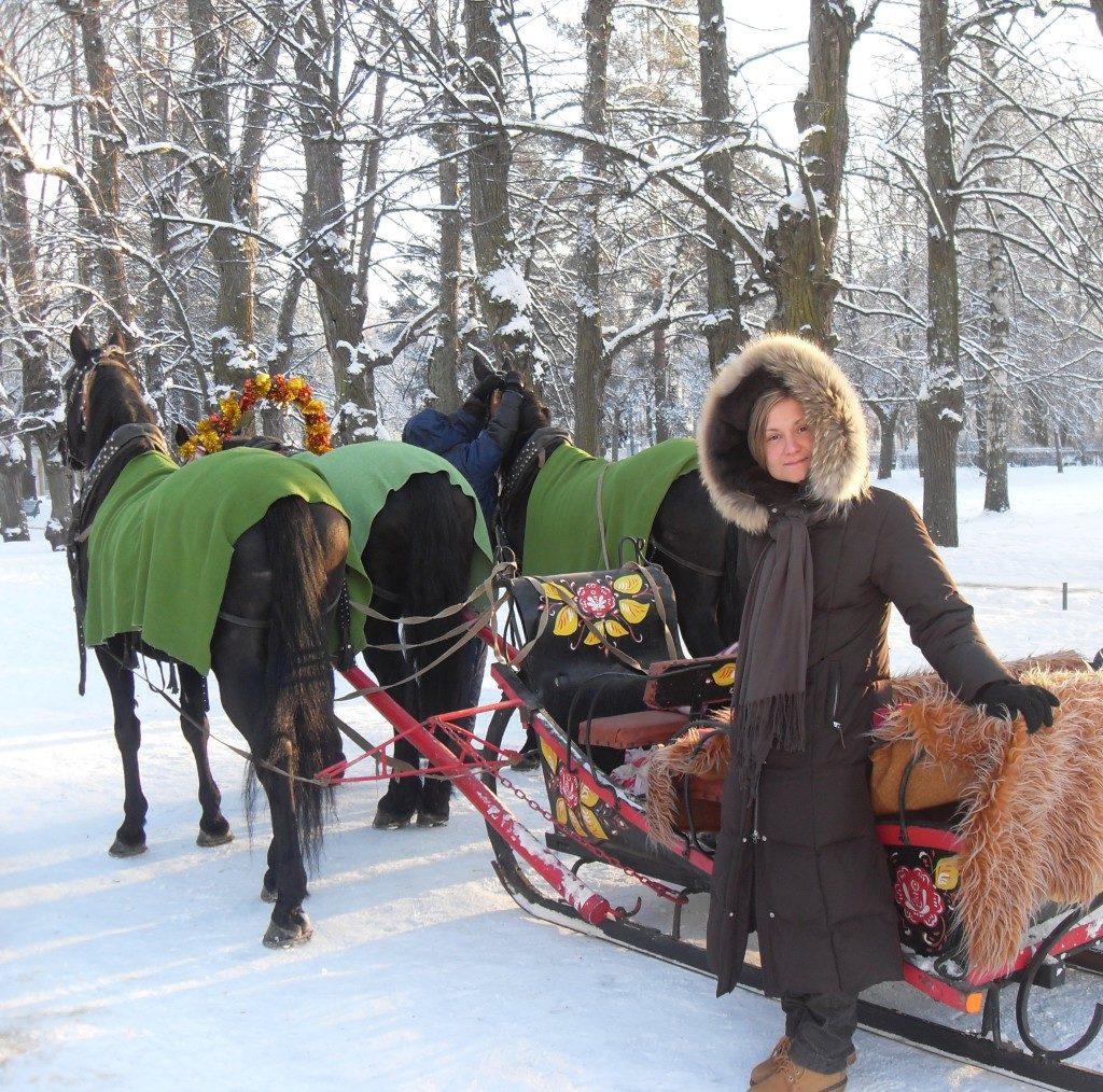 In slitta sulla neve... come nella migliore tradizione russa!!!