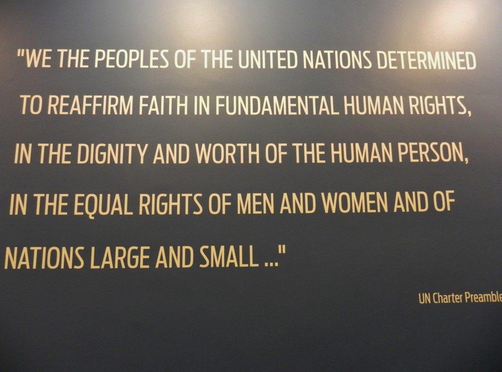 Dichiarazione dell'ONU...