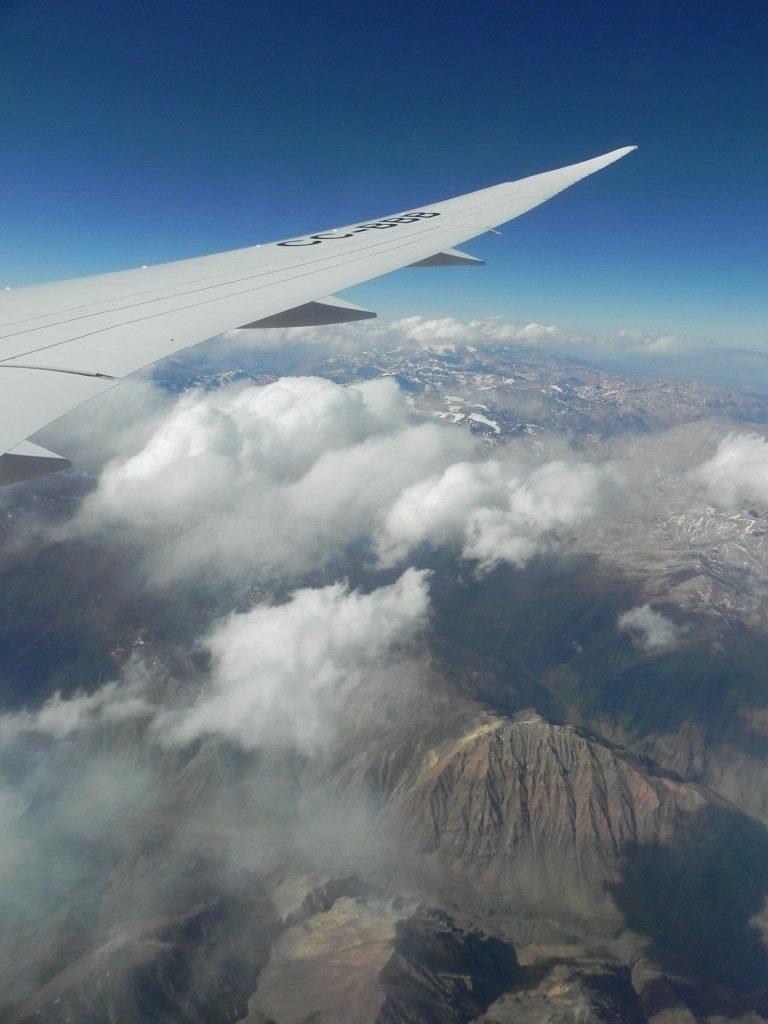 In volo verso Santiago, le ande cilene...