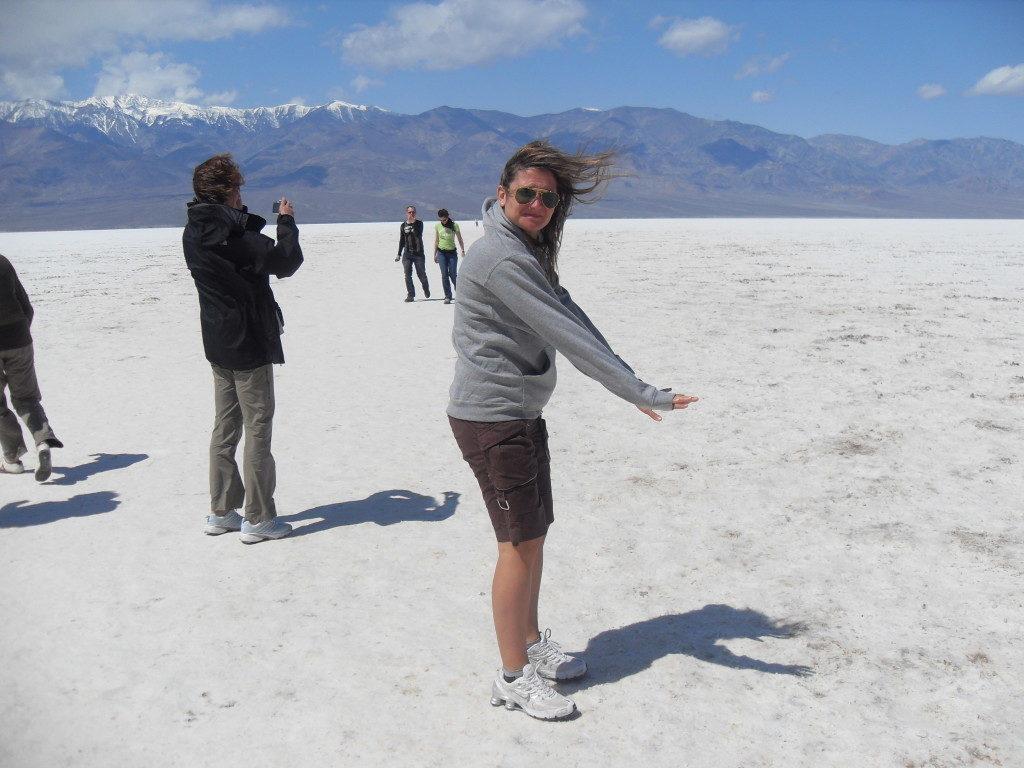 Vento forte, caldo ed un percorso fatto di sale.... questa e' la Death Valley!!!
