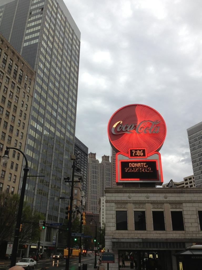 Atlanta Downtown con l'immancabile marchio della Coca Cola