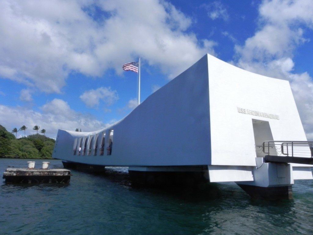 L'ingesso dell'Arizona Memorial...