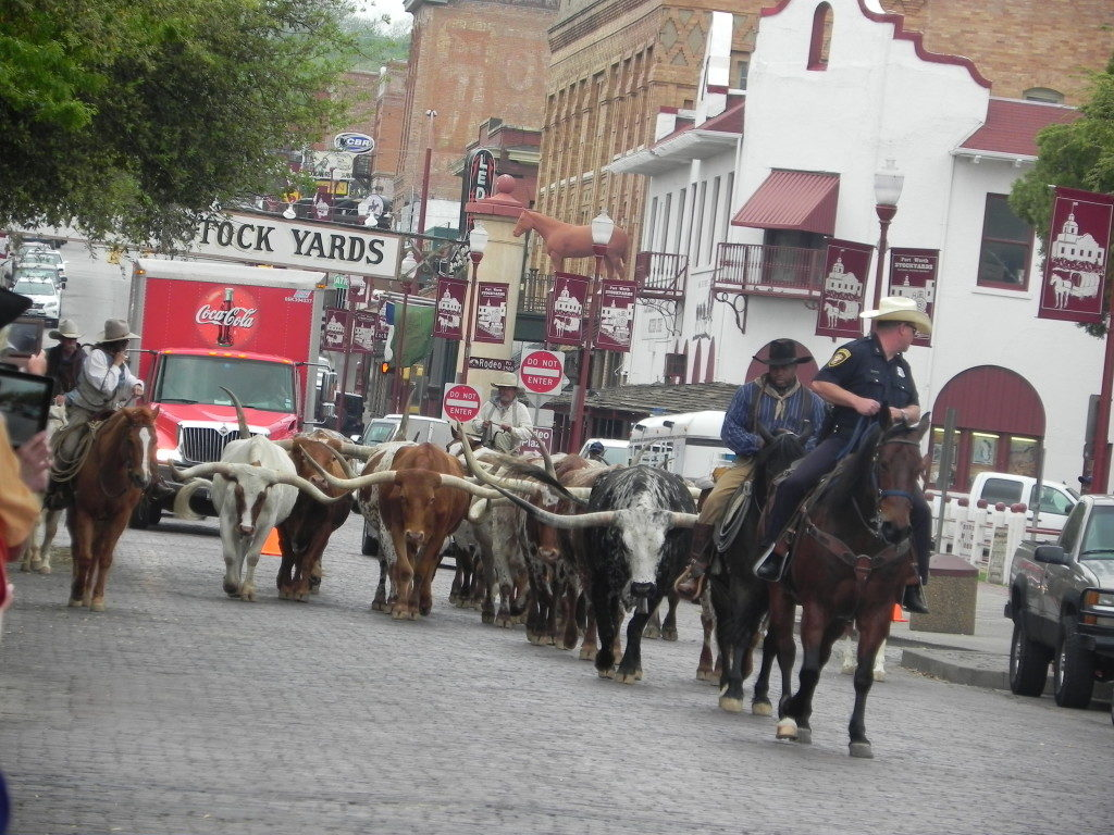 Welcome in to the West, Fort Worth stockyards