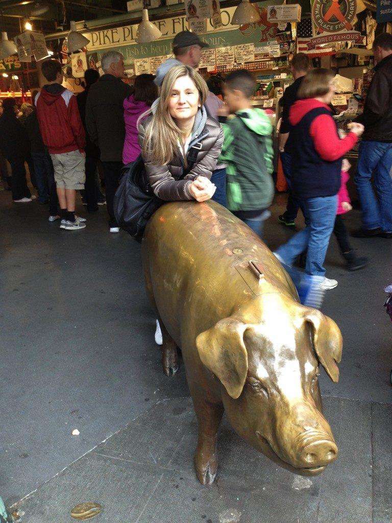 Cosa vedere a Seattle: il porcellino del Pike Place Market, Rachel