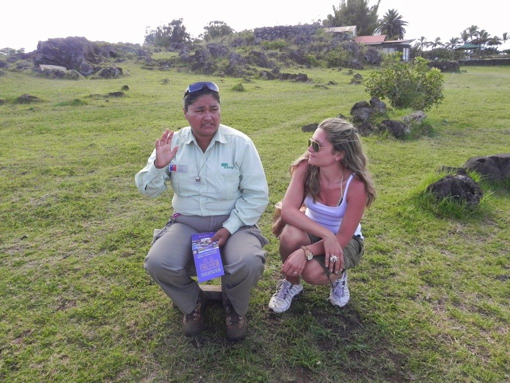Piu' che una custode dei Moai, un'amica... Paula!!