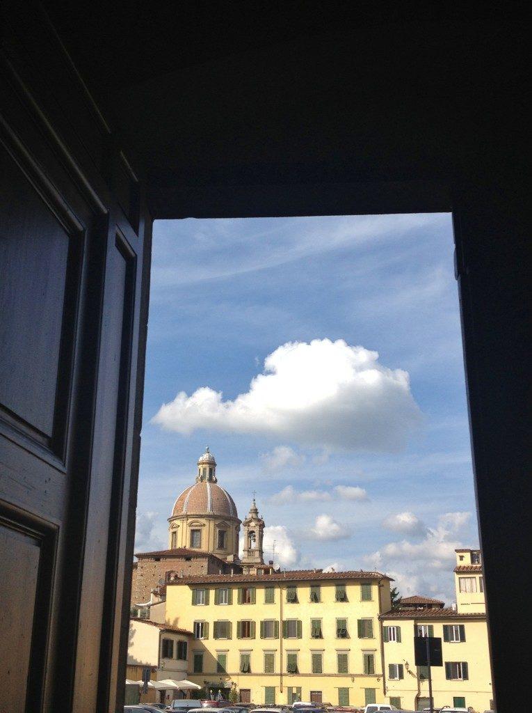Vista su Firenze dalla Chiesa di Santa Maria del Carmine, nell'Oltrarno