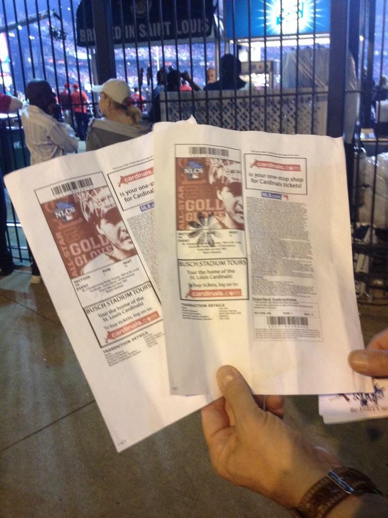 Biglietti appena presi...