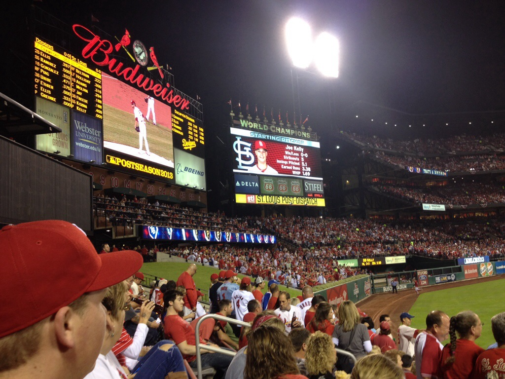 Tutto pronto per il match al Busch Stadium... Go Cardinals!!!