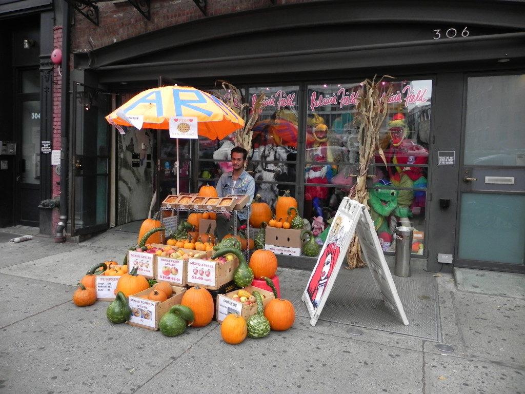 Zucche per Halloween in vendita nell'East Village