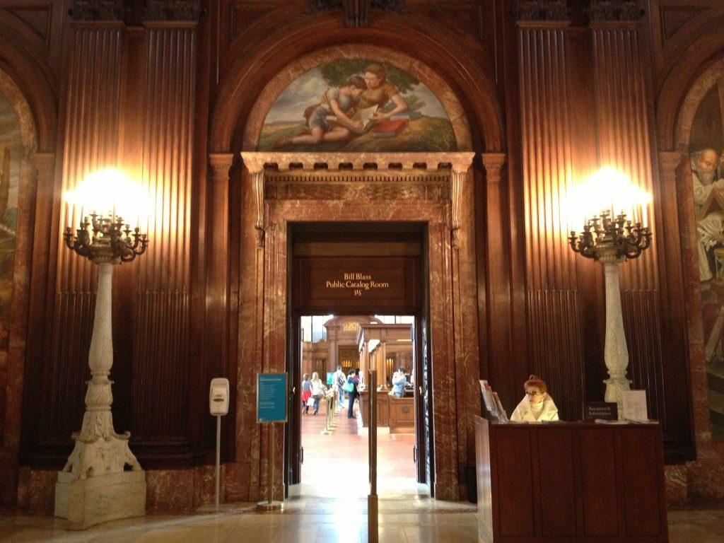 Nel primo piano della New York Public Library...