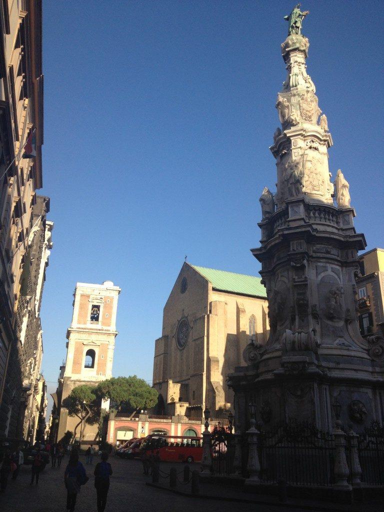 Piazza del Gesu', sullo sfondo la Chiesa di Santa Chiara