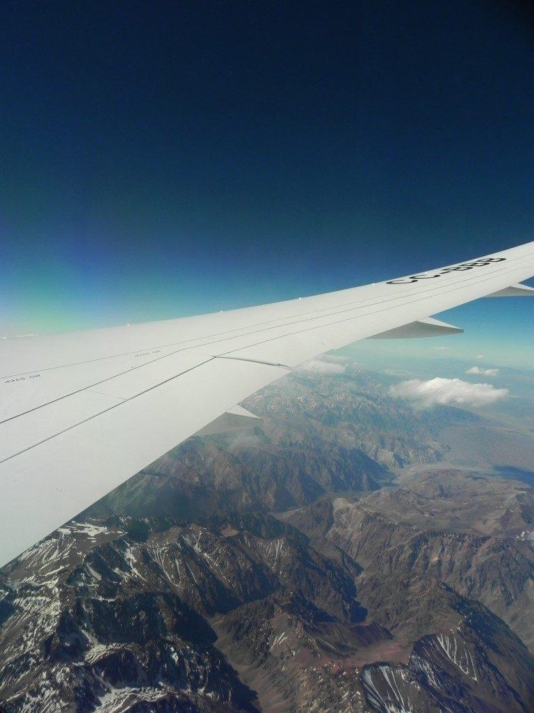In volo sulle Ande...