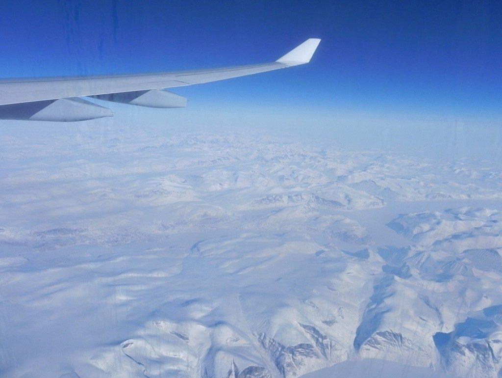 In volo sulla Groenlandia...